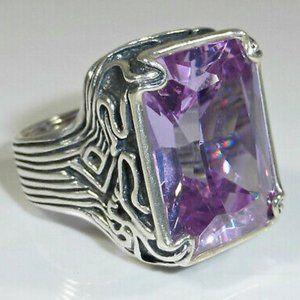 Silpada Lavendar Fields Silver Purple Ring, 5.5